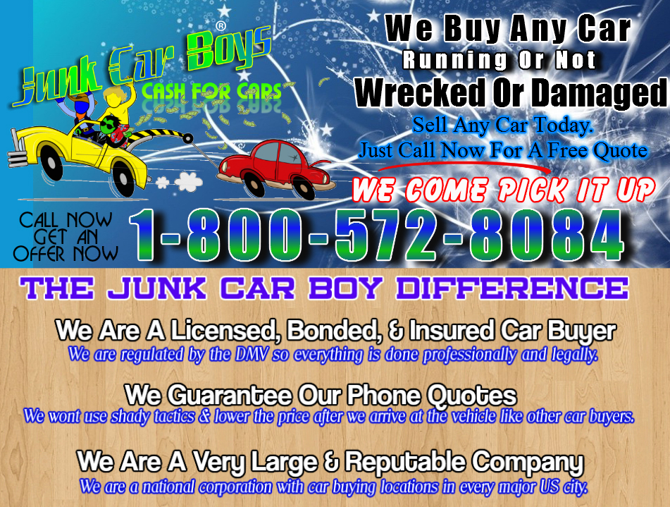 Cash For Cars Bakersfield CA - We Buy Junk Vehicles Same Day